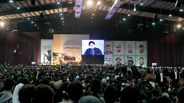 Nasrallah addresses followers in Lebanon (Photo: EPA)