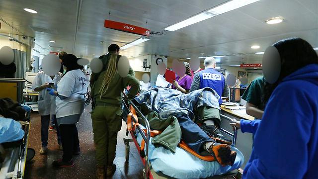 בית החולים שיבא, אמש (צילום: עופר עמרם) (צילום: עופר עמרם)