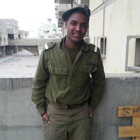 Worku Abiy from Ethiopia in his IDF uniform. (Photo: IDF Spokesman's Unit)