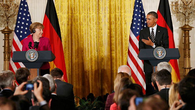 Merkel and Obama at the conference (Photo: Reuters)