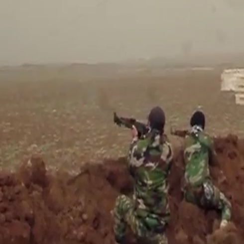 Hezbollah fighters in Syria.