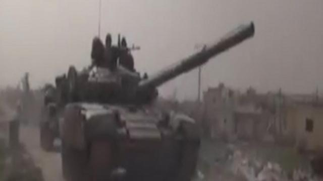 Tank near Israeli border
