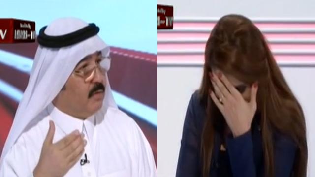 ההיסטוריון הסעודי הצליח להביך את המראיינת שלו כמה פעמים ()