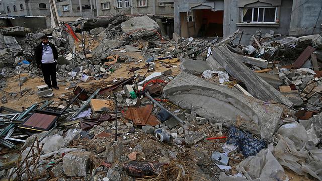 """הרס בעזה לאחר מבצע """"צוק איתן"""" (צילום: AP) (צילום: AP)"""