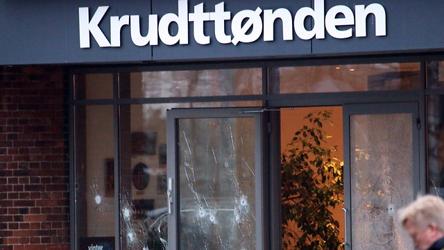 Copenhagen cafe where free speech event was held (Photo: AFP)