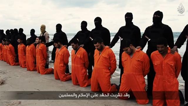 דאעש מוציא להורג קופטים ממצרים בלוב ()