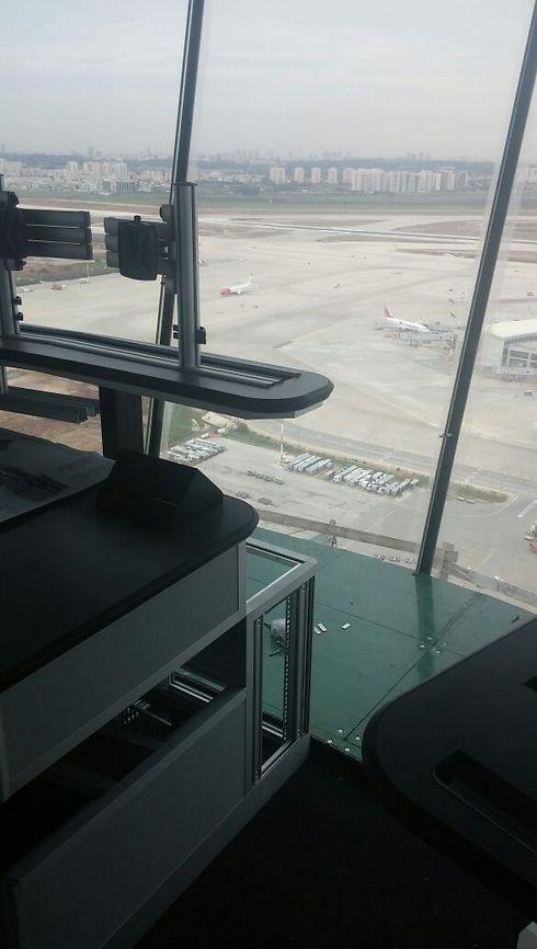 העולם דרך חלונות המגדל (צילום: רשות שדות התעופה) (צילום: רשות שדות התעופה)