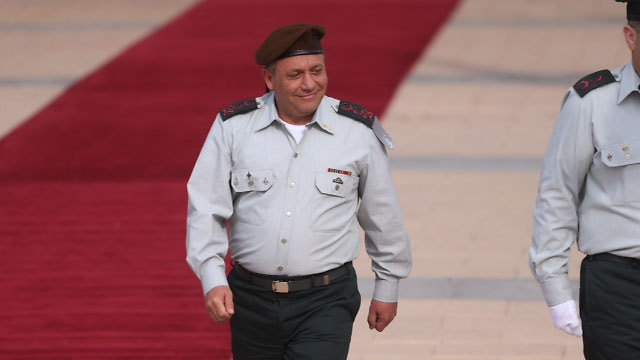 IDF chief Eisenkot upon taking office (Photo: Motti Kimchi)