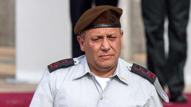 Gadi Eisenkot at the ceremony promoting him to chief of staff (Photo: AFP)