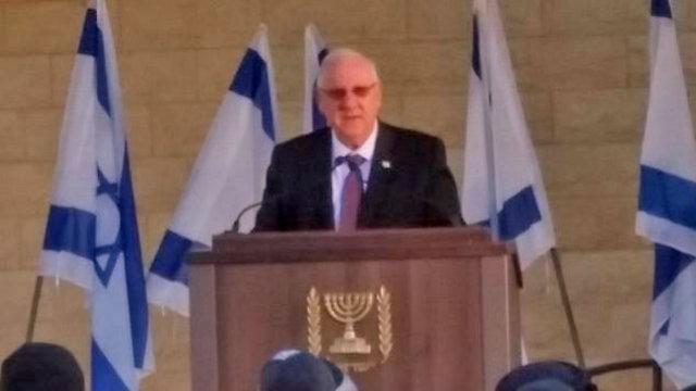 President Rivlin praises Orbach (Photo: Barel Efaim)