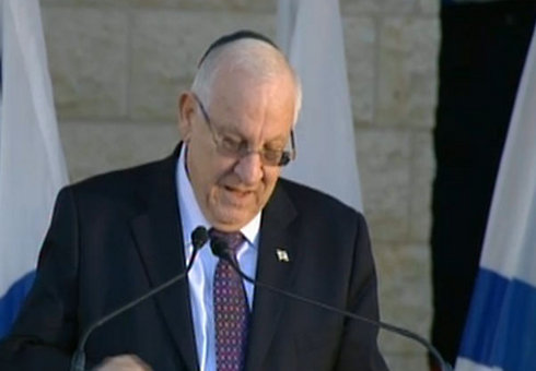 President Rivlin at the funeral of Uri Orbach.