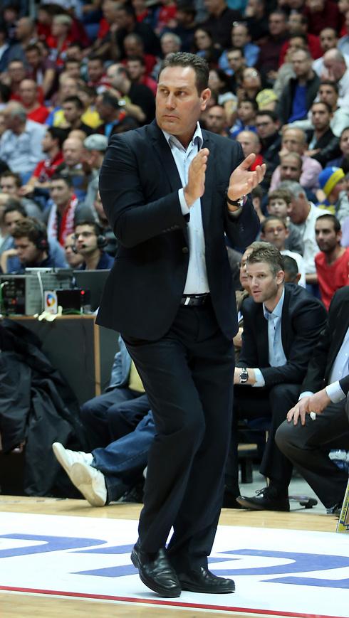 """מאמן מכבי ת""""א, גיא גודס (צילום: עוז מועלם ) (צילום: עוז מועלם )"""