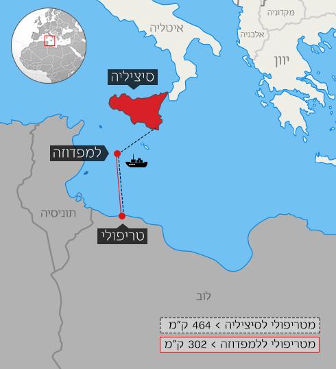 הכי קרוב לאירופה. דאעש משקיף על איטליה מלוב ()