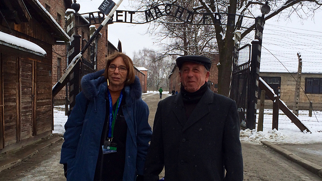 Bodner with KimRon last month marking 70 years since the liberation of Auschwitz