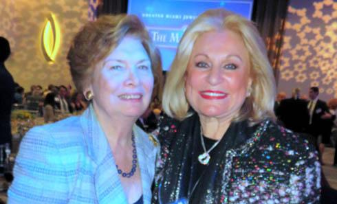 נילי פאליק עם חברת הקונגרס לשעבר איילין בלום, בערב הגאלה של הפדרציה היהודית במיאמי רבתי ()