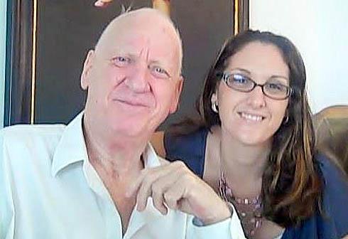 """אליעזר (לייזי) ריבלין ז""""ל עם בתו שרון  (תמונת ארכיון) (תמונת ארכיון)"""