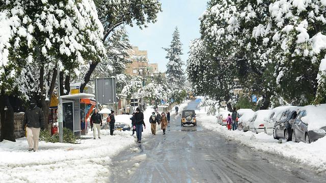 Jerusalem snow. (Photo: George Ginsburg)