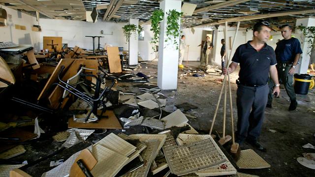 תשעה נרצחו וכ-100 נפצעו. זירת הפיגוע באוניברסיטה העברית (צילום: AP)