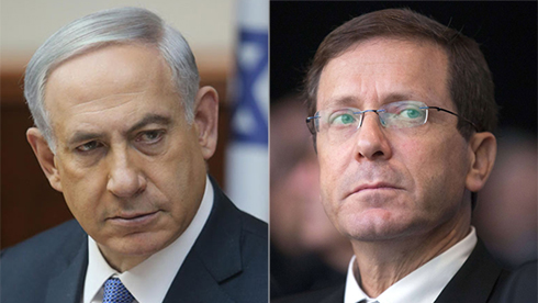Netanyahu and Herzog. (Photo: Alex Kolomoisky/AFP) (Photos: Alex Kolomoisky, AFP)