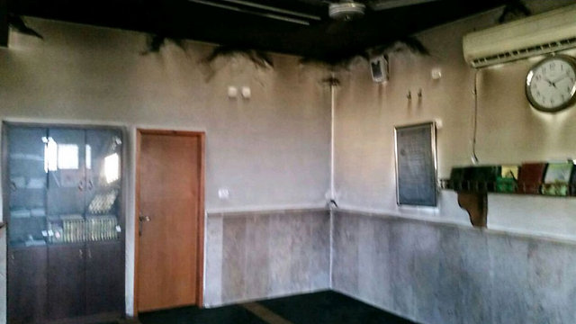 Damage caused after mosque torched