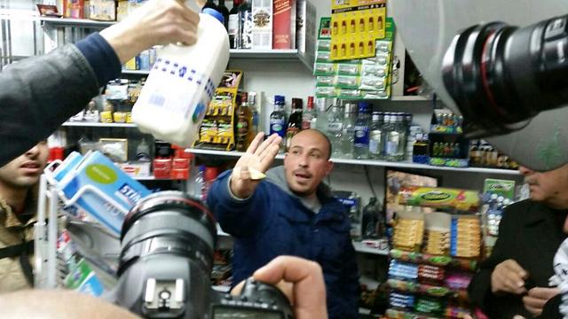 Inspectors find Israeli milk brand being sold at shop despite boycott of Israeli goods. (Photo: Elior Levy)