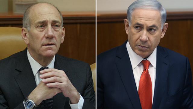 Unlike the suspicions against Olmert, the suspicions against Netanyahu are related to actions committed during his term (Photos: Alex Kolomoisky, Gil Yohanan) (Photo: Gil Yohanan, Alex Kolomoisky)