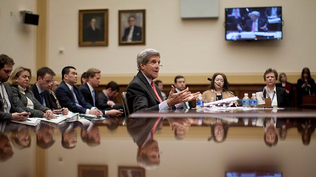 John Kerry at a House hearing on Iran (Photo: AP)