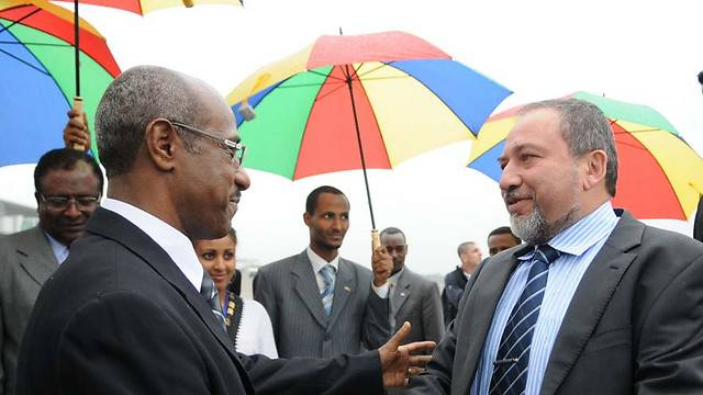 Lieberman during a diplomatic visit to Ethiopia in 2009 (Photo: Foreign Ministry)