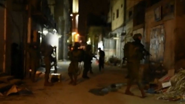 IDF troops operating in a West Bank refugee camp. The Palestinian Authority is absent in the camps (Photo: IDF Spokesman)