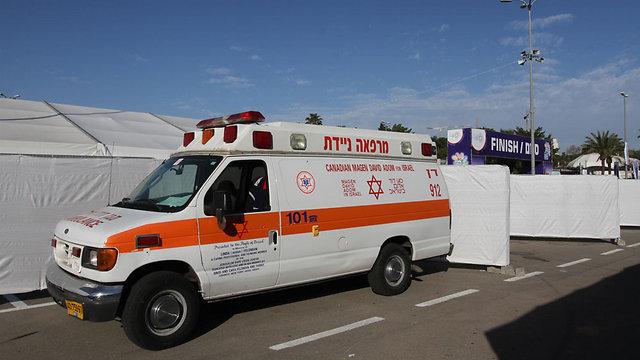 """מתחם מד""""א במרתון תל אביב. ארכיון (צילום: עידו ארז) (צילום: עידו ארז)"""