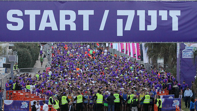 Tel Aviv Marathon, Friday morning (Photo: Ido Erez) (Photo: Ido Erez)