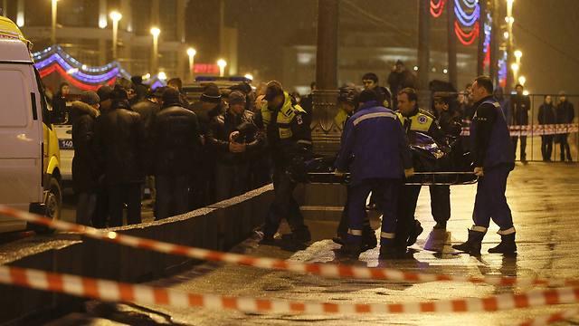 זירת הרצח במוסקבה (צילום: רויטרס) (צילום: רויטרס)