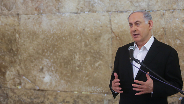 Netanyahu at the Western Wall ahead of his visit to the US (Photo: Marc Israel Sellem) (Photo: Marc Israel Sellem/JPost)