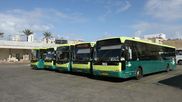 אוטובוסים של אגד תעבורה (ארכיון) (צילום: עידו ארז) (צילום: עידו ארז)