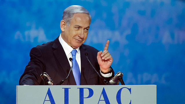 Netanyahu at AIPAC (Photo: AP)