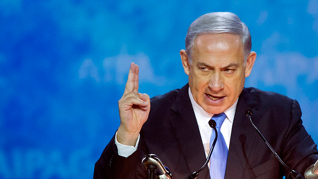 Netanyahu at AIPAC (Photo: AP)