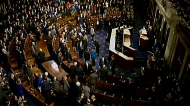 הכדור עובר לוושינגטון. הקונגרס האמריקני ()
