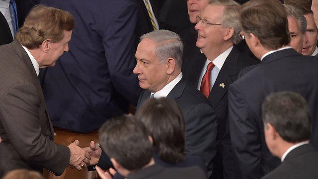 Netanyahu got a warm welcome to Congress. (Photo: AFP) (Photo: AFP)