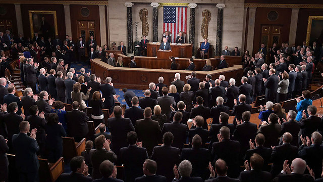 Prime Minister Netanyahu addressing Congress on the Iran nuclear threat (Photo: AFP) (Photo: AFP)