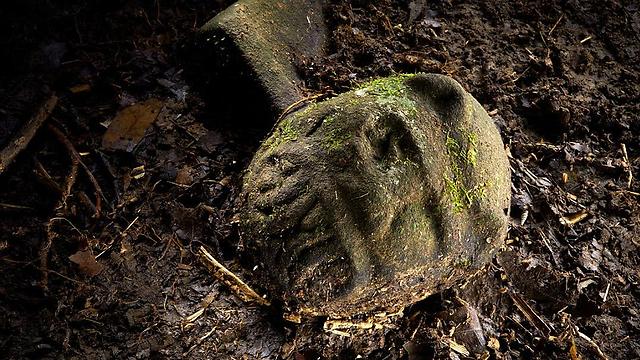 אחד מחפצי האומנות שנמצאו (צילום: דייב יודר, באדיבות נשיונל ג'אוגרפיק) (צילום: דייב יודר, באדיבות נשיונל ג'אוגרפיק)