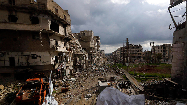 Destruction in Aleppo following fighting (Photo: Reuters)