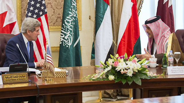 US Secretary of State Kerry meeting with Saudi foreign minister (Photo: AFP)