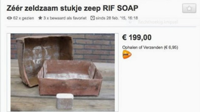 Soap reportedly from Holocaust being sold online.