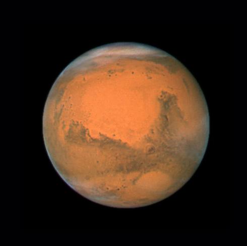 """מאדים, כפי שצולם על-ידי טלסקופ החלל האבל (צילום: נאס""""א) (צילום: נאס"""