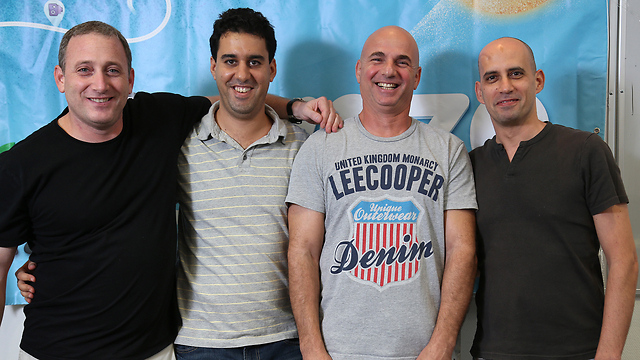 Waze's Israeli, or 'Zionist,' founders (Photo: Zvika Tishler)