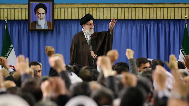 Khamenei meeting with environmental officials and activists at his Tehran home.