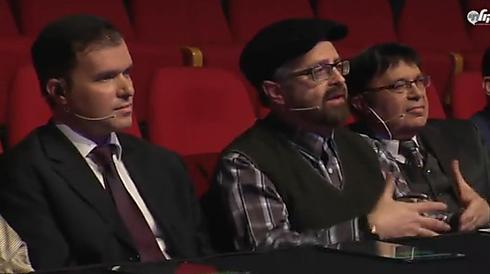 """אוהד מושקוביץ, יוסי גרין וד""""ר מרדכי סובול. שלושה מהשופטים   (צילום: אלי מנדלבאום) (צילום: אלי מנדלבאום)"""