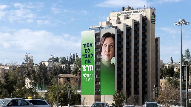 Meretz billboard: 'We must not lose Meretz, it's up to you'.