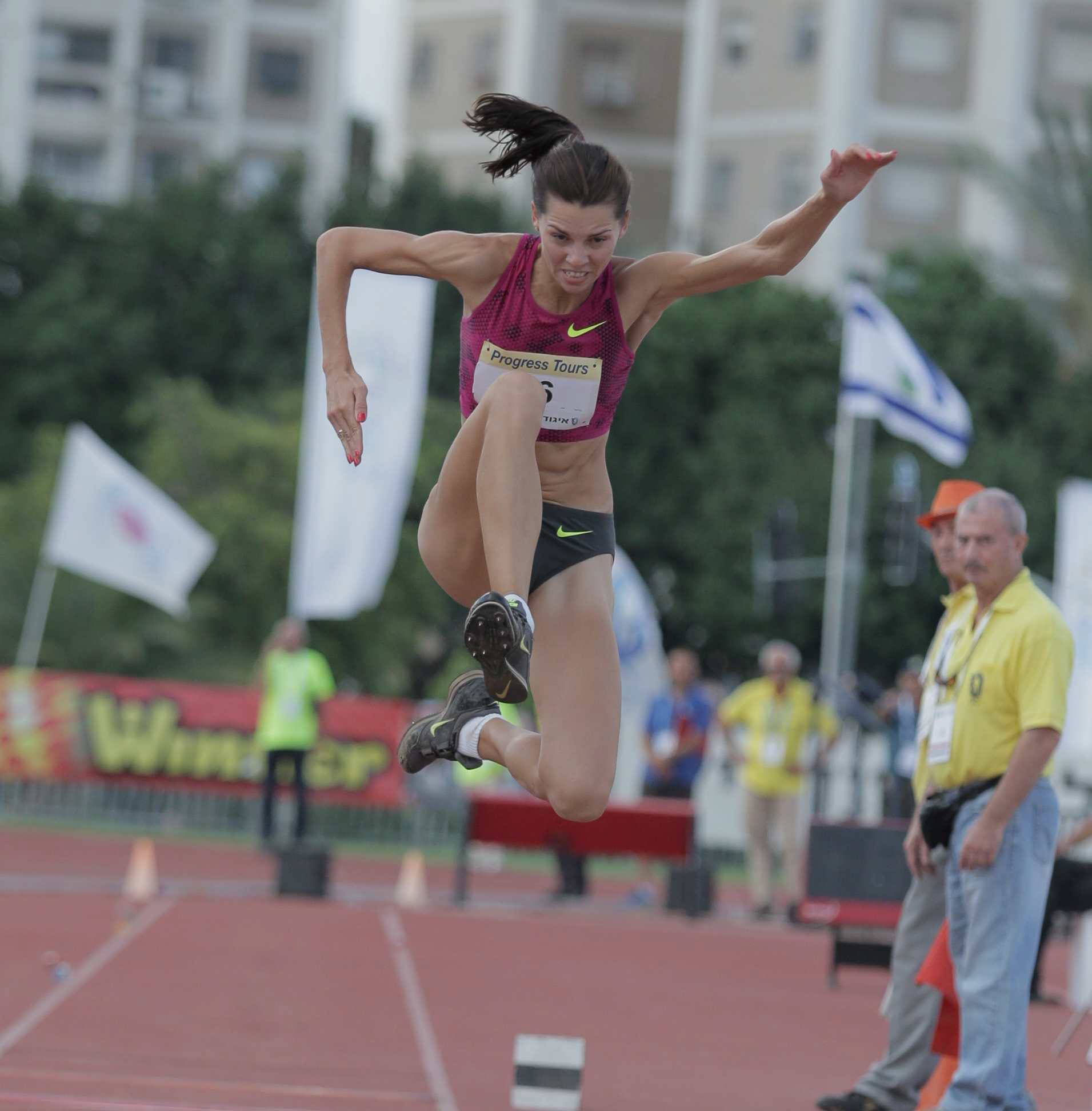 In action in Israel (Photo: Reuven Schwartz)