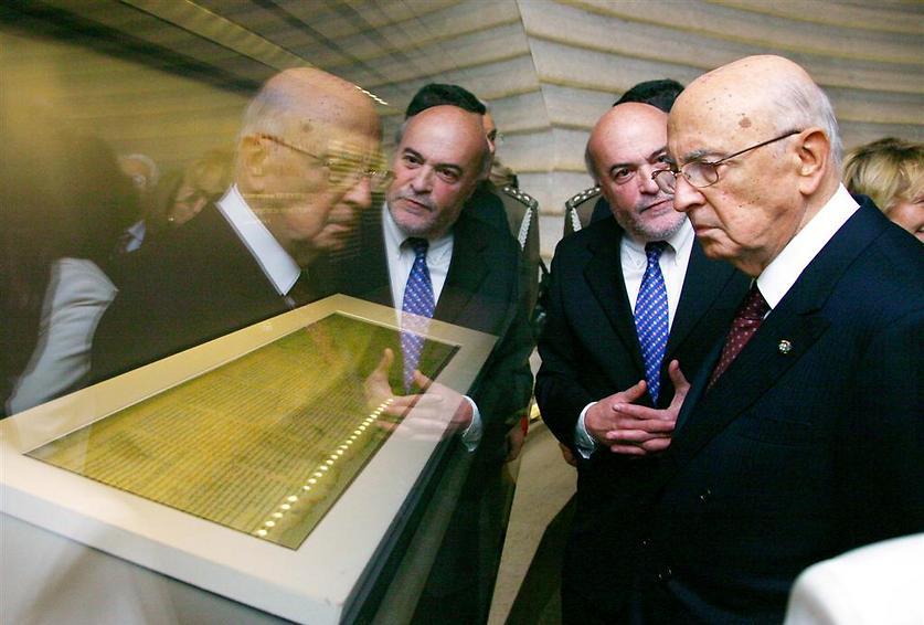 ביקור נשיא איטליה לשעבר, נפוליטאנו, 2008 (  )